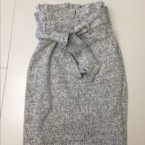 Grey speckle mini skirt